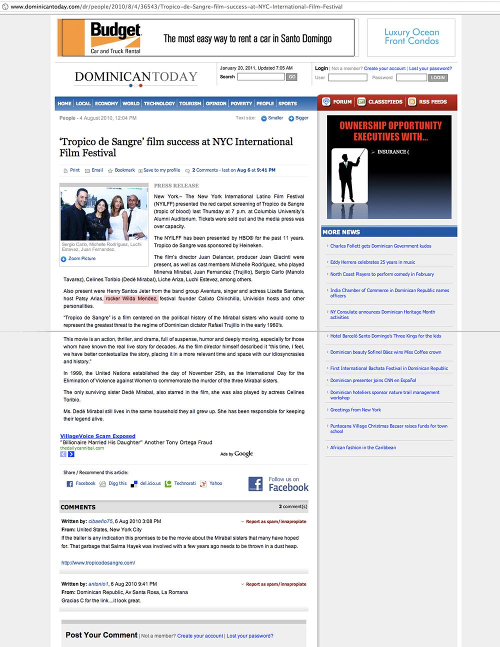 Wilda Mendez_Tropico de sangre Dominicanotoday_071910.jpg