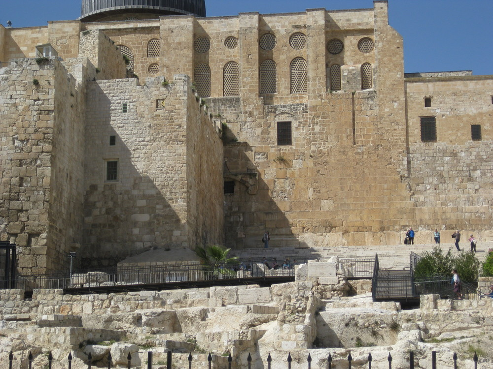 They can say with certainty that Jesus walked on these steps, and through the gate which is now sealed.