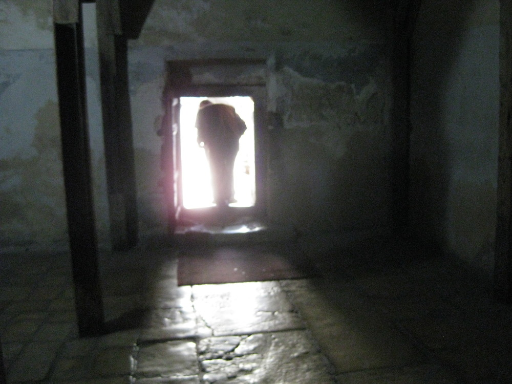 The only entrance to the Church of the Nativity...a low door through which everyone must bow.