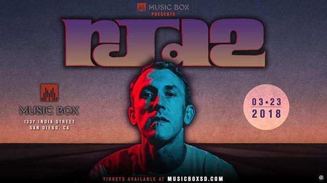 Tonight at @musicboxsd I'll be opening up the night for the one and only RJD2. @therealscarub and @pigeonjohn will also be blessin the spot. I hope to see you there! ✌🏽️ #RJD2 #musicbox #sandiego #sd #hiphop #dontstop #beats #rhymes #life #live #music #friday #blessings #blessed #mhz #defjux #classic #goodtimes