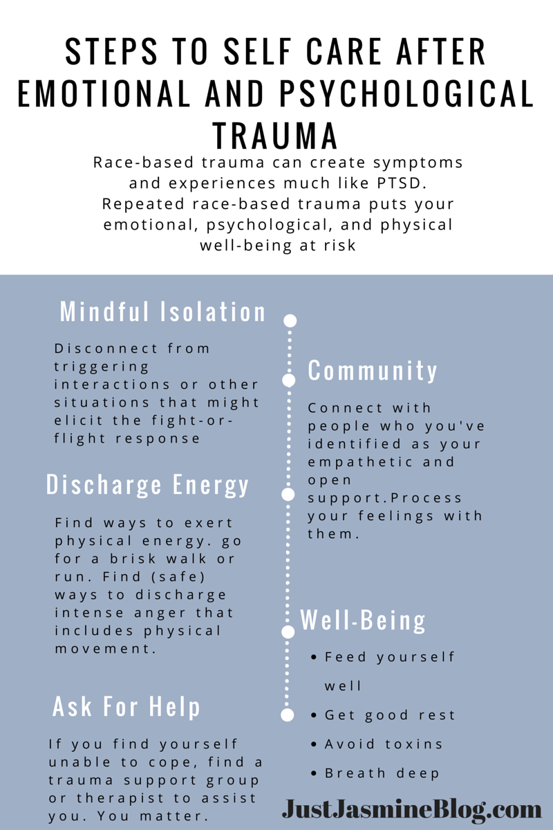 Steps to Self Care after Emotional and Psychological Trauma