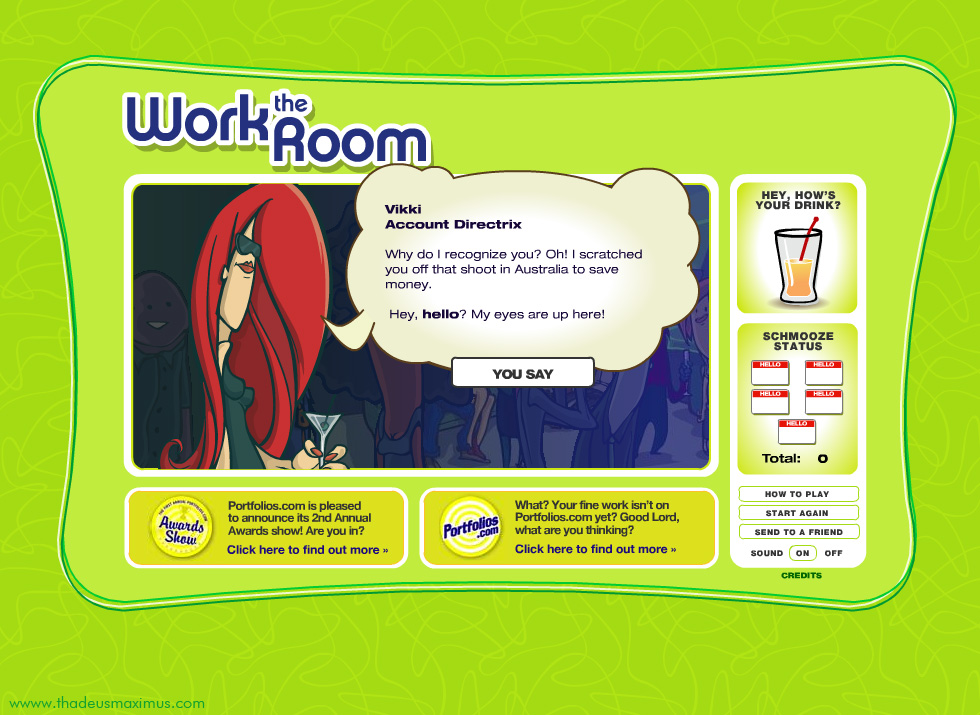 Work The Room -  Red Head