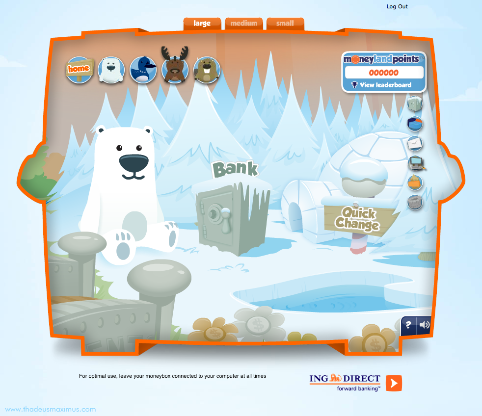 ING - Lil' Savers Money Bank - Polar Bear