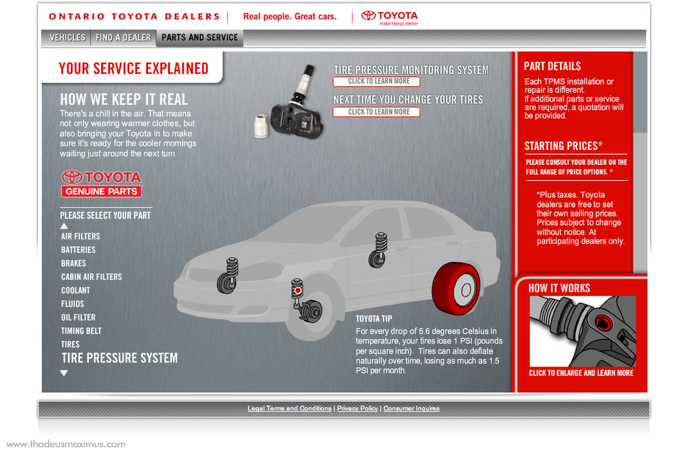 OTDA - Parts and Service - Tire Pressure System
