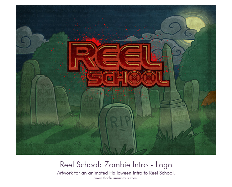 Reel School - Zombie Intro Logo