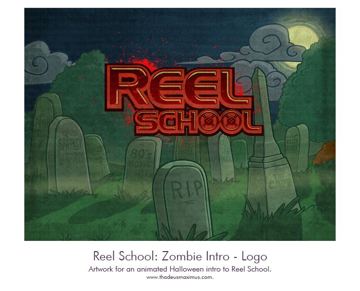 Reel School - Zombie Intro Logo