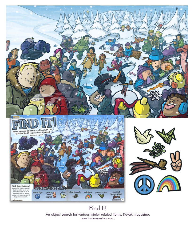 Kayak Magazine - Find It Winter Puzzle