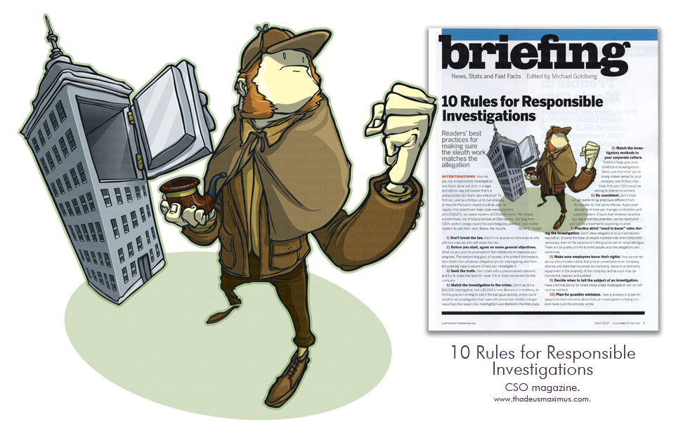 CSO Magazine - 10 Rules for Responsible Investigations