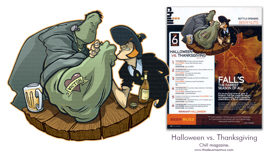 Chill Magazine - Halloween Vs. Thanksgiving