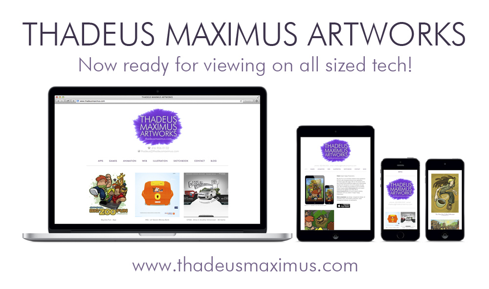 Thadeus Maximus Artworks - New Website