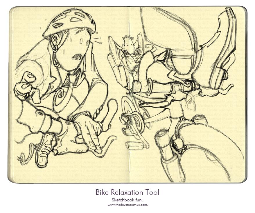 Thadeus Maximus Artworks - Sketch - Bike Relaxation Tool
