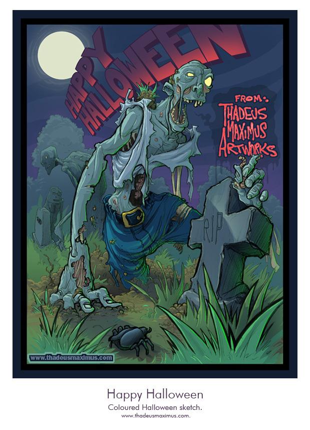 Thadeus Maximus Artworks - Sketch - Happy Halloween