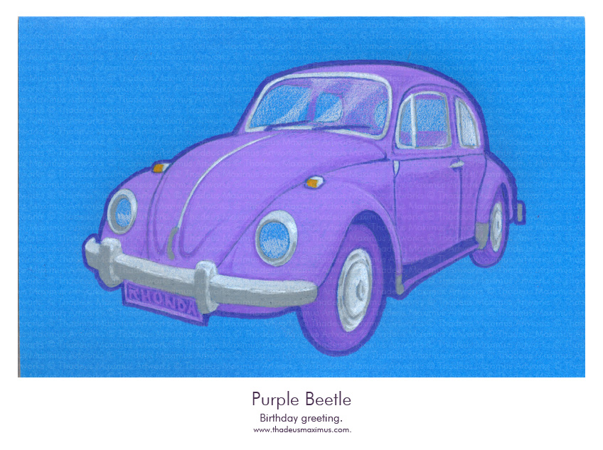 Thadeus Maximus Artworks - Sketch - Purple Beetle