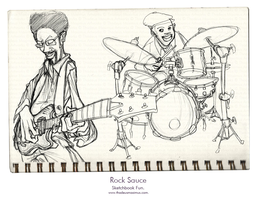 Thadeus Maximus Artworks - Sketch - Rock Sauce