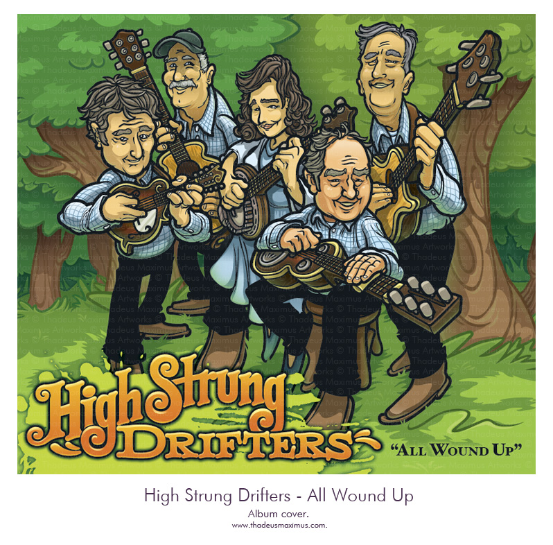 Thadeus Maximus Artworks - High Strung Drifters - Album Cover