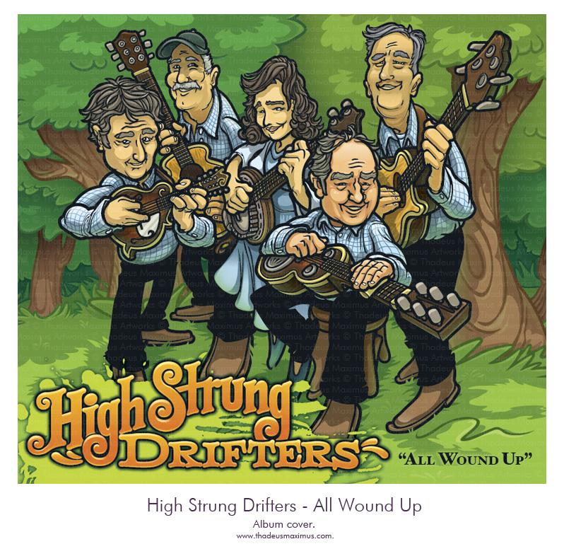 Thadeus Maximus Artworks - High Strung Drifters - Album Cover