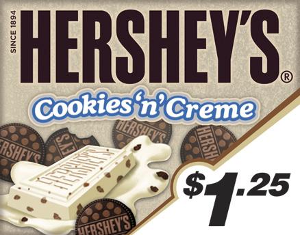 Vend Men Product Sample - Hershey's Cookies 'n' Creme