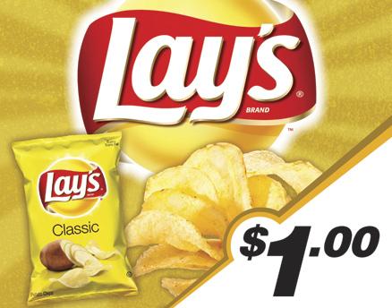 Vend Men Product Sample - Lays Potato Chips