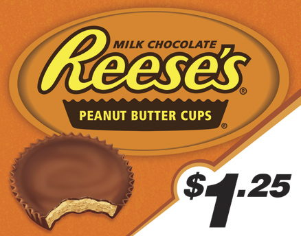 Vend Men Product Sample - Reese's Peanut Butter Cups