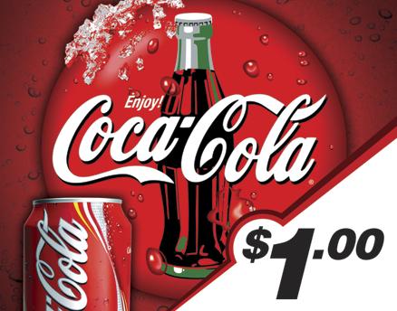 Vend Men Product Sample - CocaCola
