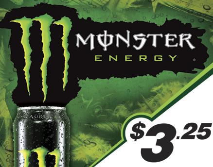 Vend Men Product Sample - Monster Energy