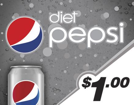 Vend Men Product Sample - Diet Pepsi