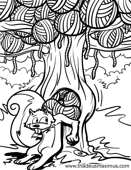 Yarn Crush Colouring Book - Squirrel