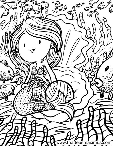 Yarn Crush Colouring Book - Mermaid