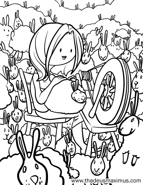 Yarn Crush Colouring Book - Rabbits