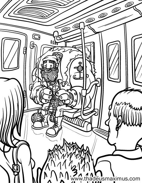 Yarn Crush Colouring Book - Subway