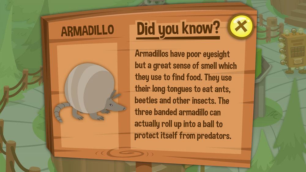 The GreatZoo Escape 2: Map - Zoom Left - Armadillo Sign