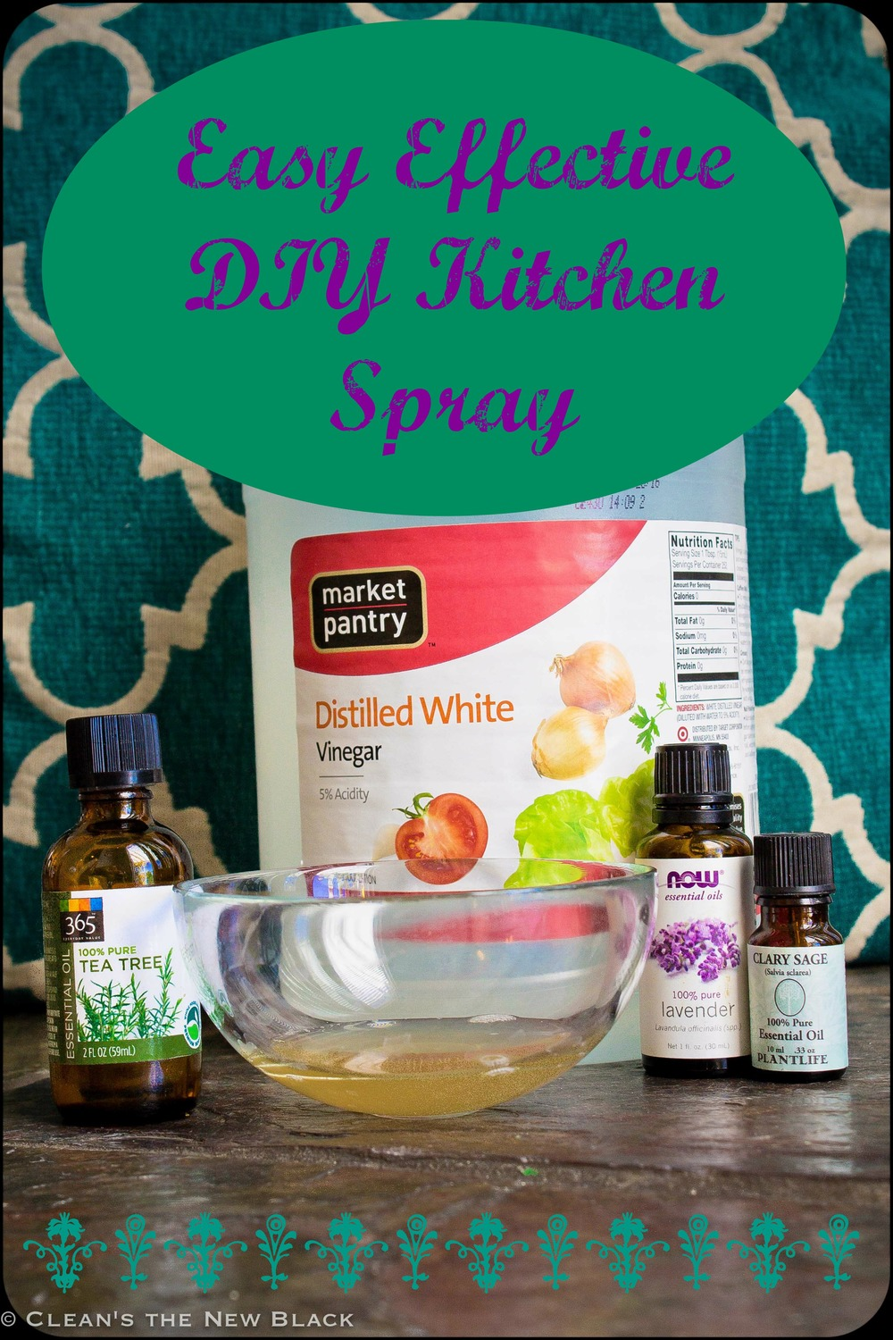 DIY kitchen counter spray that really works. Cuts grease, disinfects, and cleans.