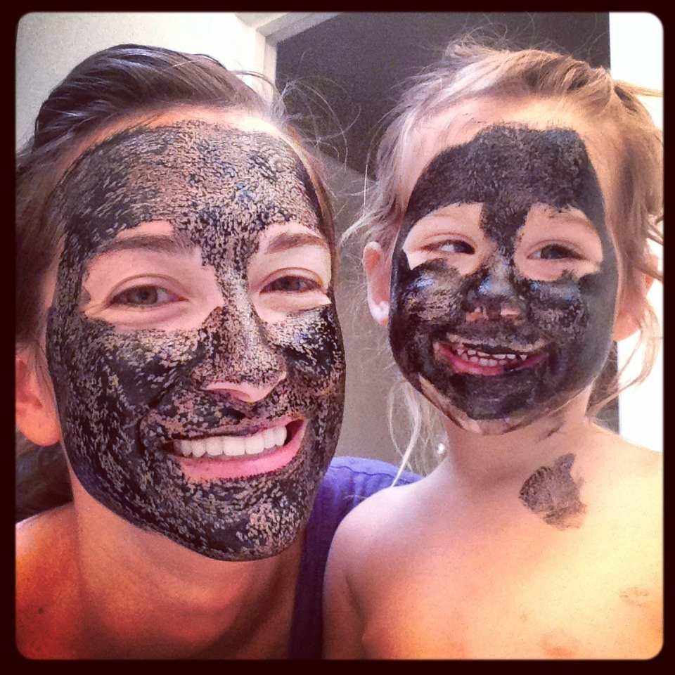 My daughter and I trying out the Hydrating DIY Mask