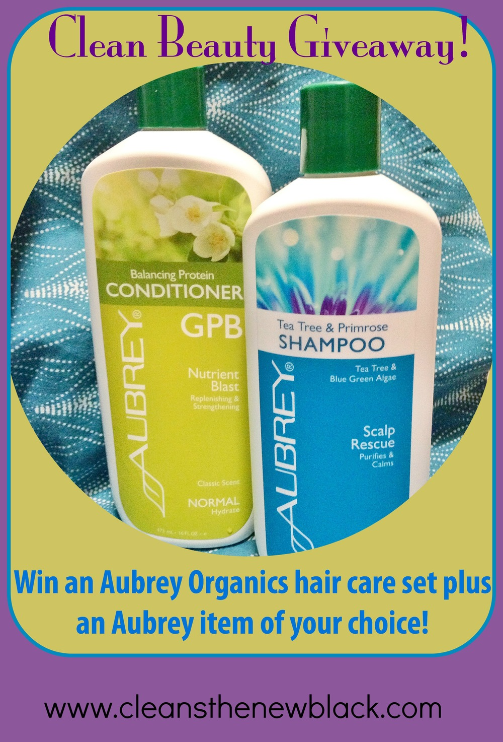 Start cleaning out your beauty routine with this Aubrey Organics giveaway!