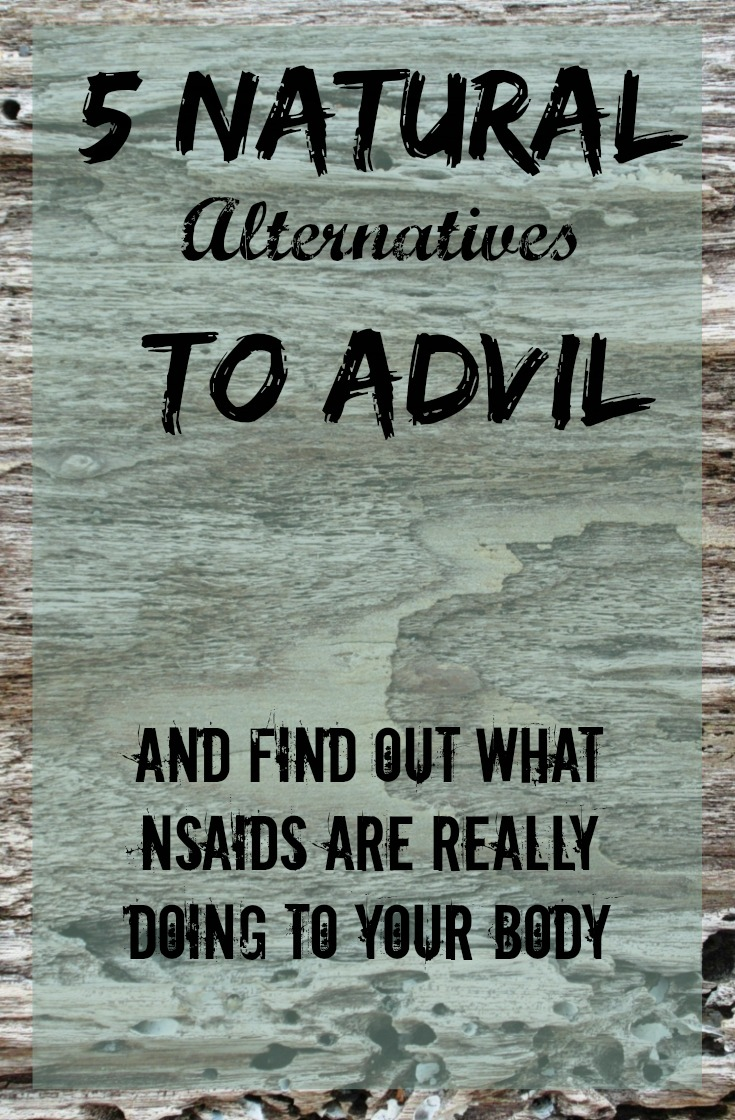 5 Natural alternatives to Advil, Tylenol, and other NSAIDs.