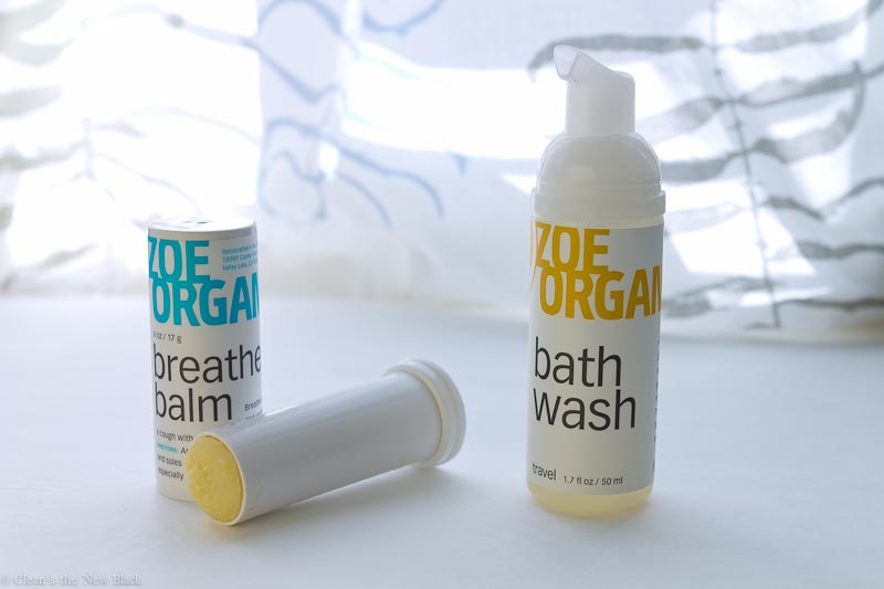 Zoe Organics Breathe Balm and Bath Wash