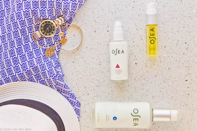 OSEA skincare Ocean Cleanser review, vitamin sea review, atmosphere protection cream review