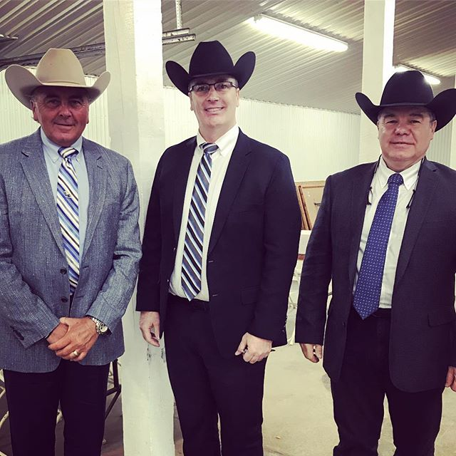 3 of our judges for this weekend- ready to begin!  #aqha #gohorseshow