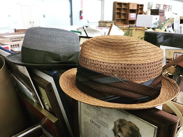 Flea Market this weekend! The building will be full of vendors & next door is where you'll be able to find these amazing hats @ our auction! #vintage #hats #oneofakind #fleamarkets