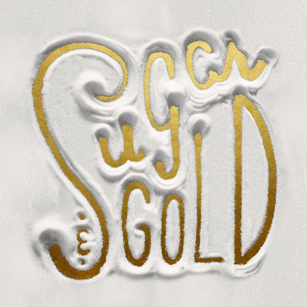Hand Lettered Logo Made of Sugar | Sugar & Gold