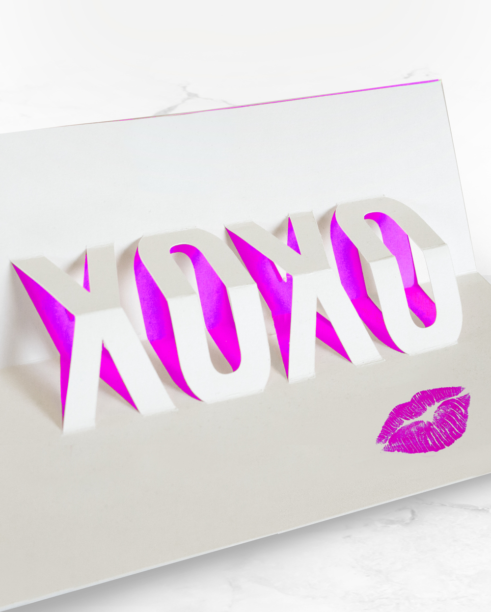 DIY XOXO Pop-Up Card Template | Valentine's Day Card | Sugar & Gold