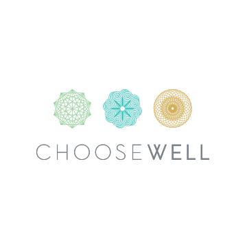 ChooseWell Logo | Branding by Sugar & Gold