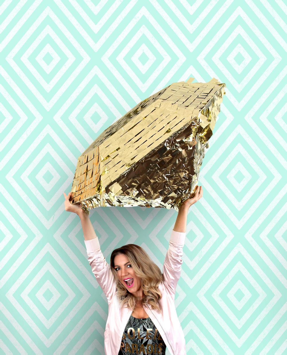 Sugar & Gold | Emily Vaca | Fiesta Forever Giant Piñata
