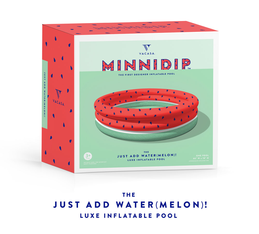 MINNIDIP | the JUST ADD WATER(MELON)! luxe inflatable pool by LA VACA | watermelon pool