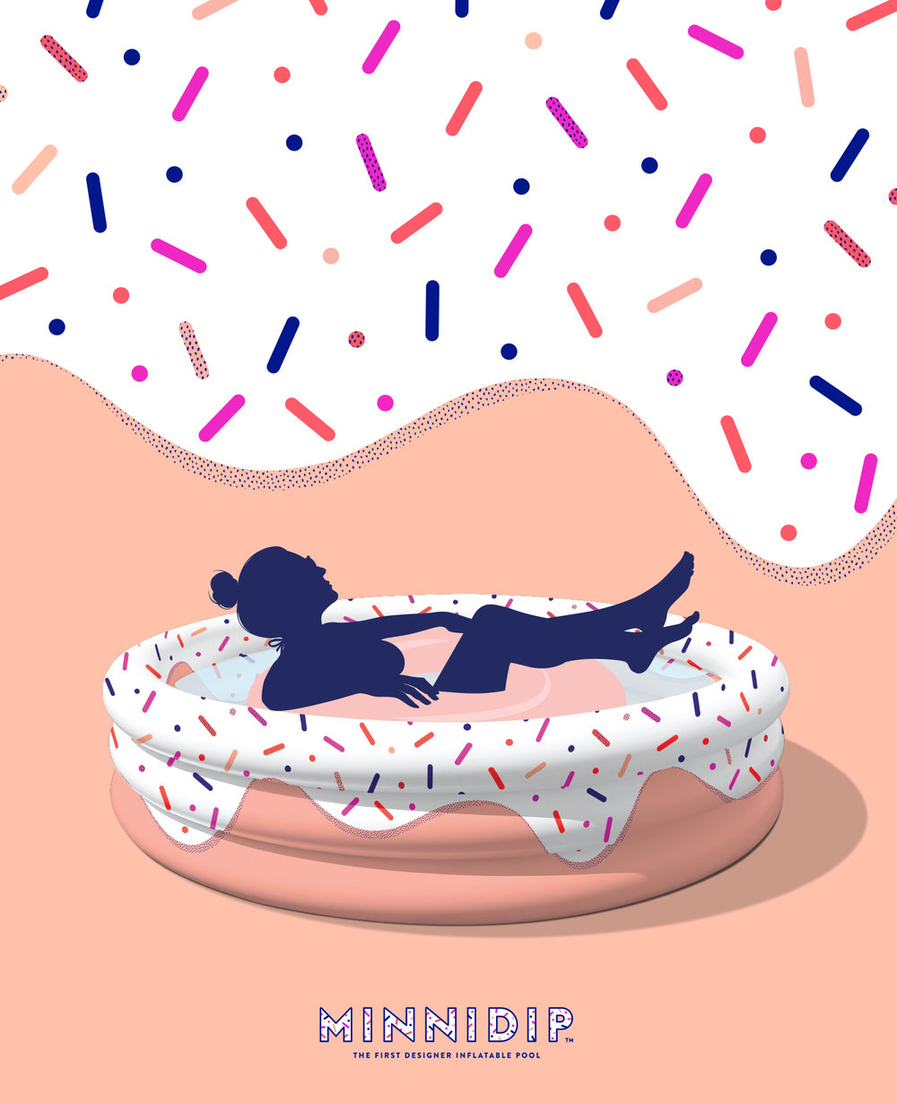 MINNIDIP | the DONUT FORGET YOUR SUNNIES! luxe inflatable pool by LA VACA