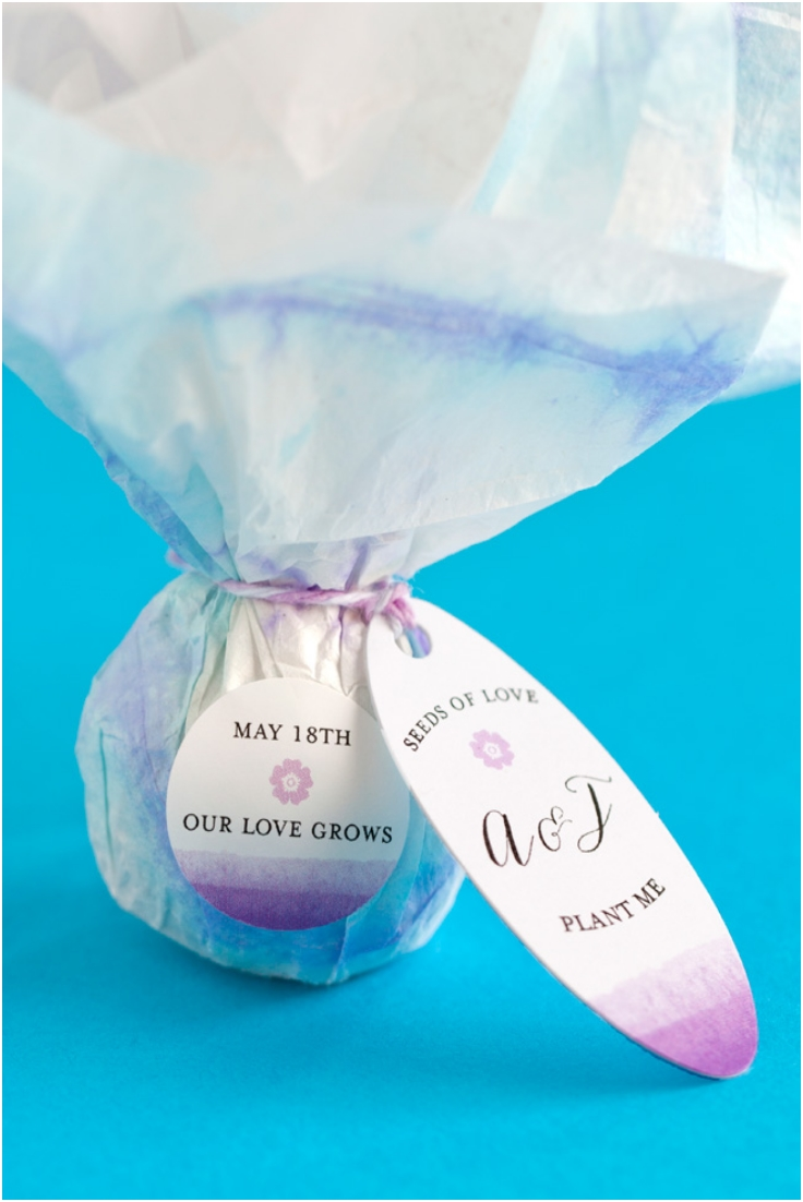 DIY Seed Bomb Favors via Top Inspired
