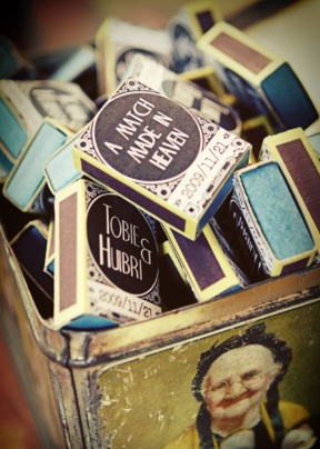 Matchbooks via Wedding Republic