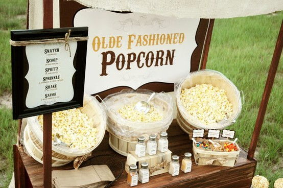 Popcorn Bar via Weddingful