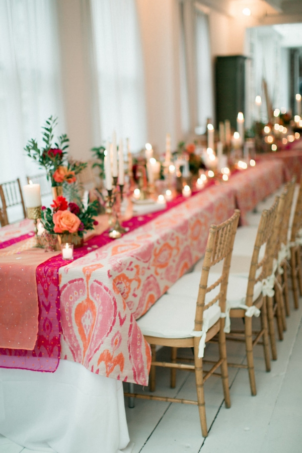 Our couple Monique and Amman's tables at Gary's Loft - Photo by Jennifer Sosa Photography