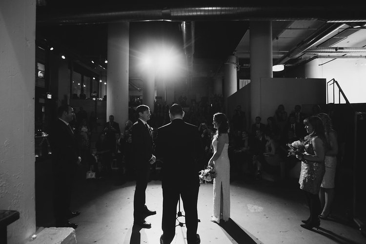 Our couple Annie and Paul at Powerhouse Arena - Photo by Olli Studio
